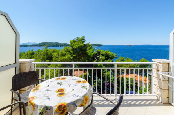 View to islets of Prizba from balcony of apartment 2 Jelica