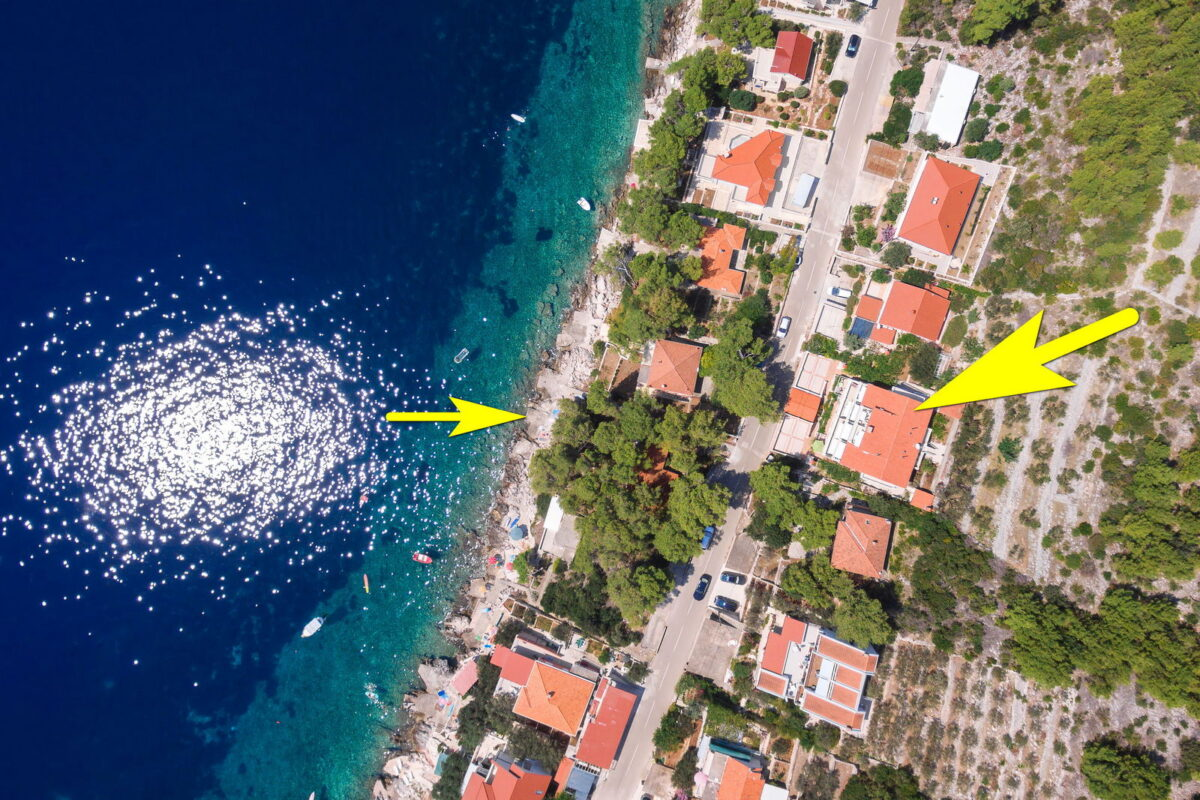 korcula prizba apartments jelica from air 08 arrow beach 1200x800