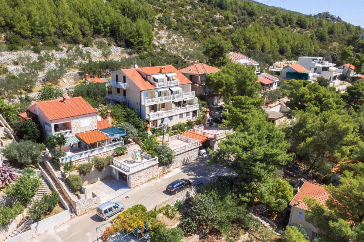 korcula prizba apartments jelica from air 13 arrow 1200x800